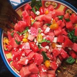 Watermelon and Tomato Salad Recipe