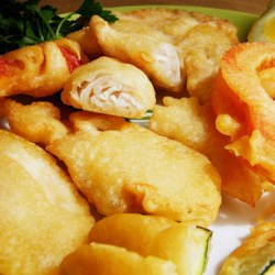 Gluten-Free Beer Battered Chicken and Veggies Recipe