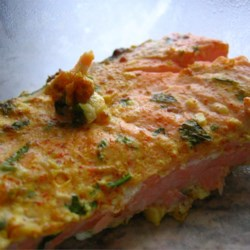 Yogurt-Marinated Salmon Fillets (Dahi Machhali Masaledar) Recipe