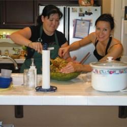 Preparing Thanksgiving Dinner w/ my sis
