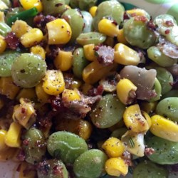 Creamy Succotash with Bacon, Thyme and Chives Recipe