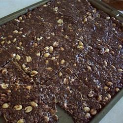 Photo of Chewy Chocolate Peanut Bars by LAZYDM