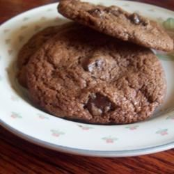 Double Chocolate Chip Cookies with Peppermint Recipe