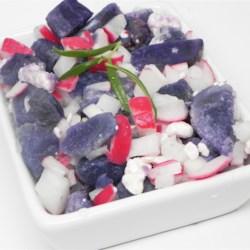 Red, White and Blue Potato Salad Recipe