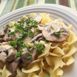 Portobello Mushroom Stroganoff