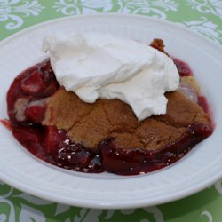 Rhubarb and Strawberry Cobbler Recipe