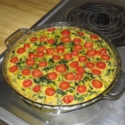 The Taylor's version of Crustless Spinach Quiche