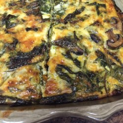 Spinach and Mushroom Egg Casserole Recipe