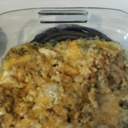 Chicken, Stuffing and Green Bean Casserole Recipe