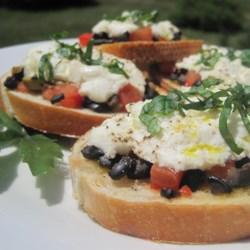 Artichoke Heart and Chopped Olive Crostini Recipe