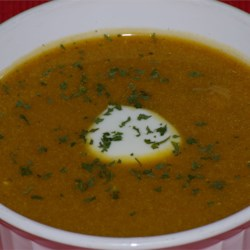 Roasted and Curried Butternut Squash Soup