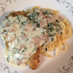 Chicken with Prosciutto Spinach Cream Sauce Recipe