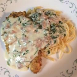 Chicken with Prosciutto Spinach Cream Sauce Recipe