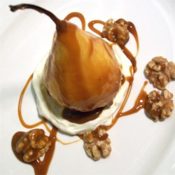 Roasted Pears with Caramel Sauce