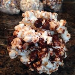 Rocky Road Popcorn Balls Recipe