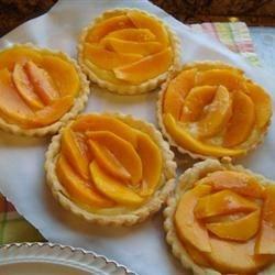 Mango Vanilla Custard Cream Cheese Tarts