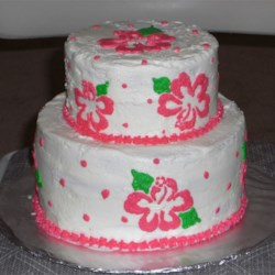 Strawberry Cake with Buttercream Icing