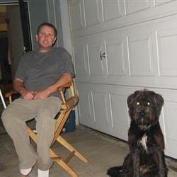 Chris and his dog