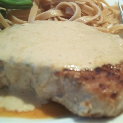 Pork Chops with Blue Cheese Gravy