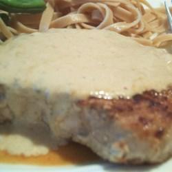 Pork Chops with Blue Cheese Gravy