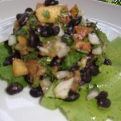 Black Bean Salad with Peaches Recipe
