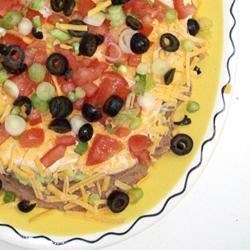 Photo of Best Ever Layered Mexican Dip by Noelle C