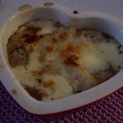 French Onion Soup in Heart Ramekin