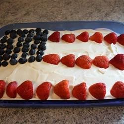 Tres Leches Flag Cake