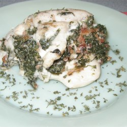 Chicken Breast Stuffed with Spinach Blue Cheese and Bacon