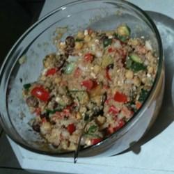 Mediterranean Zucchini and Chickpea Salad Recipe