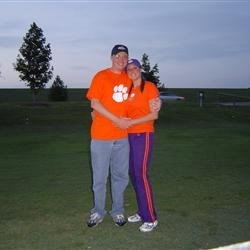 Me and hubby at a Clemson football game