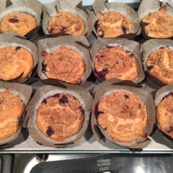 Blueberry Crumb Muffins Recipe