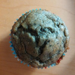 No-Sugar-Added Blueberry and Banana Wheat Muffins Recipe