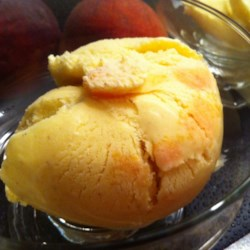 Spiced Ginger-Peach Ice Cream Recipe