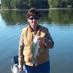 Lady loves to Fish