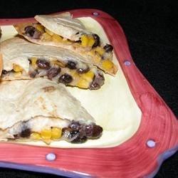 Blackbean and Corn Quesadillas