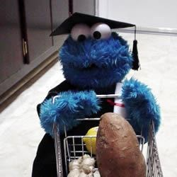 I love Cookie Monsters, especially ones that help me in the kitchen!