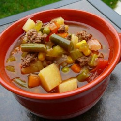 Hobo Ground Beef and Vegetable Soup Recipe