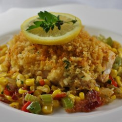 Baked Halibut with Crispy Panko Recipe
