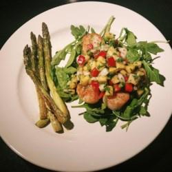 Seared Scallops with Tropical Salsa Recipe