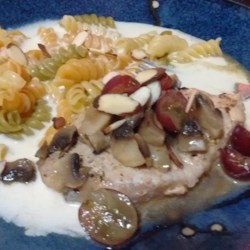 Pork Chops with Grapes and Almonds Recipe