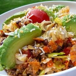 spicy dorito r taco salad printer friendly