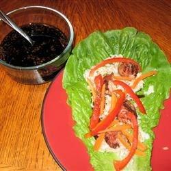 Asian Roll Lettuce Wrap