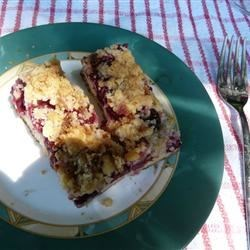 Blueberry Crumb Bars changed for sour cherry