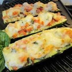 nats shrimp and veggie stuffed zucchini printer friendly