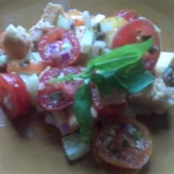 Tomato-Bread Salad with Basil and Capers Recipe