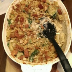 Creamy Zucchini and Spinach Rigatoni Recipe