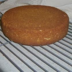 A layer of my buttermilk white cake