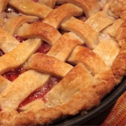 Ruth's Grandma's Pie Crust, Strawberry Rhubarb Pie