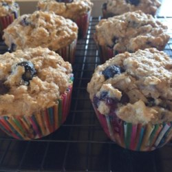 Blueberry Banana Coconut Flax Muffins Recipe